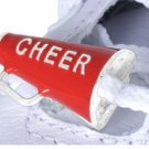 """Cheer"" Cheerleading Megaphone Charms for Shoe Laces - Different Colors Available"