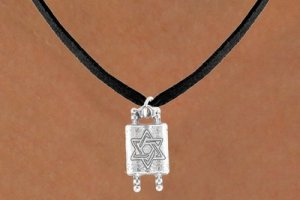 Torah Scrolls with Necklace - 4 Necklace Choices