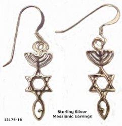Sterling Silver Messianic Earrings