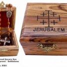 Jerusalem OliveWood Rosary Box