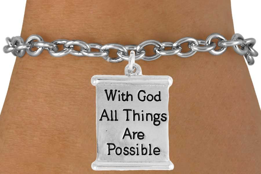 With God All Things Are Possible Bracelet