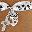 Love Hope Faith-  Bracelet