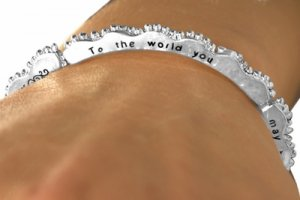 The World You May Be Someone, But To Me You Are The World -Stretch  Bracelet