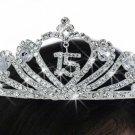 "QUINCEAÑERA - ""15"" with Open Heart tiara"