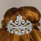 Tiara Comb Crystals In A Flower & Filigree Design.