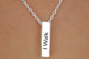 I Walk With Jesus.  -  Charm and Necklace