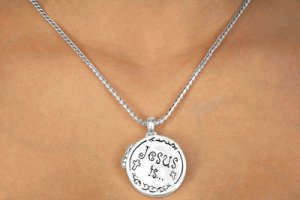 Jesus is the Way to Heaven Locket Charm and Necklace