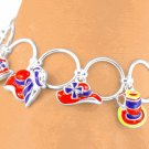 Red Hat Charms Toggle Bracelet