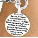 """My Cancer Cannot Conquer My Passion...."" Breast Cancer Awareness Bracelet"