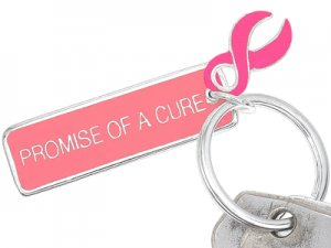 Breast Cancer Awareness Keychain  - Great for Fundraiser Gift