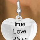 True Love Waits earrings - Abstinence and Purity earrings