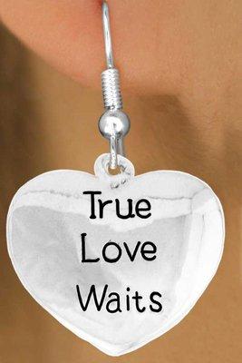 True Love Waits earrings - Abstinence and Purity earrings
