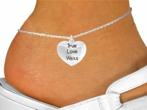 True Love Waits ankle bracelet - Abstinence and Purity bracelet