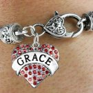 """GRACE"" Heart Charm Bracelet"