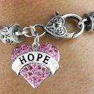 """""""HOPE"""" Heart Charm Bracelet"""