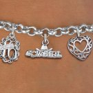 Sweet 16 Cowgirl Girl Themed Charm Bracelet