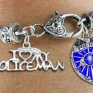 """I Love My Policeman"" Charm Bracelet"