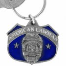 American Lawman Pewter Key Chain - Choose Blue or Silver