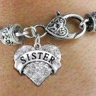 """""""Sister"""" Heart Charm Bracelet"""