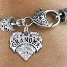 """GRANDMA"" Heart Charm Bracelet"