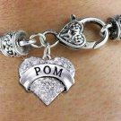 """POM"" Heart Charm Bracelet"