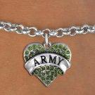 """ARMY"" Heart Charm Bracelet"