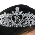 Sweet 16 Heart Birthday Tiara - Very brilliant and sparkly!