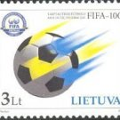Soccer Stamp Fifa 100 Years 2004 Lithuania Mnh