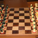 Chinese Wood (Occidental) Chess Set