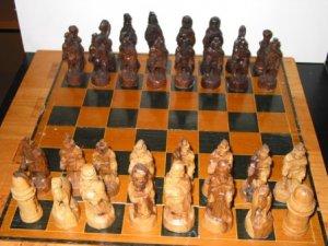 Isreali Olive Wood Chess Set