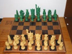 Chinese Plastic Chess Set