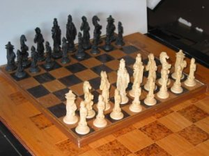 Chinese Plastic Chess Set (made in Italy)