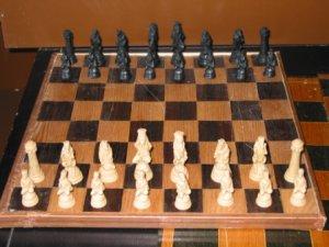 Reynard the Fox Chess Set - Cast Stone-rosin