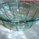 KIG Aquamarine Glass Candy Bowl Indonesia Vintage