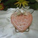 Terracotta Aromatized Embossed Heart