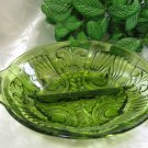 Indiana Glass Killarney Green Relish Dish