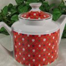 Tulip Teapot with Lid Bright Colorful