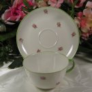 Richard Ginori China Cup & Saucer Made in Italy Green