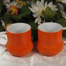 H.H. 1968 Orange Cups 7640 Mugs Retro