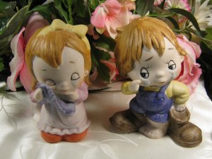 Boy and Girl Figurines Cute