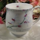 White Knight Cup Mug White with Floral