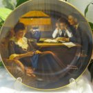 Norman Rockwell Fathers Help Plate