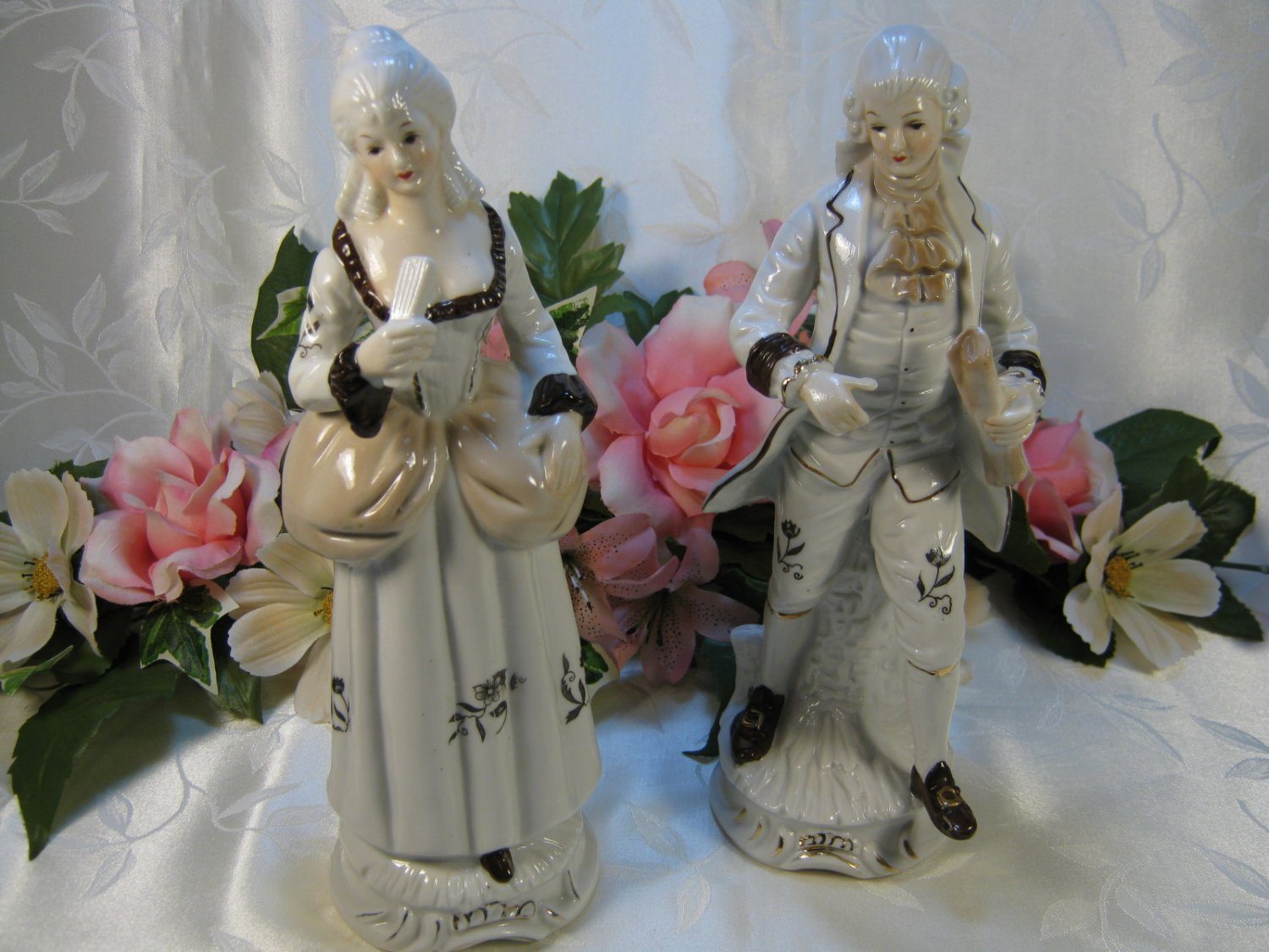 Large Colonial Couple Figurines