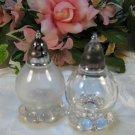 Bubble Foot Glass Salt & Pepper Shakers