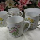 Takahashi Demitasse Cup and Saucer Set of Four