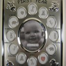 Malden Silver Plate Baby's First Year Frame