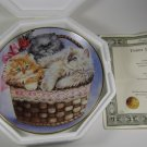 Three Little Kittens Collector Plate Franklin Mint