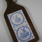 Delft Blue Tile Cutting Board Vintage