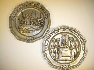 Sexton Bicentennial Pewter Plates