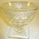 Pressed Glass Dessert Dish Footed
